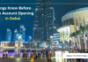 Bank account opening in Dubai