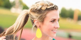 Know How to High Ponytail with Braid Wrapped Around