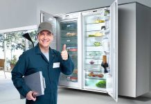 Appliance Repair Edmonton and clean the refrigerator